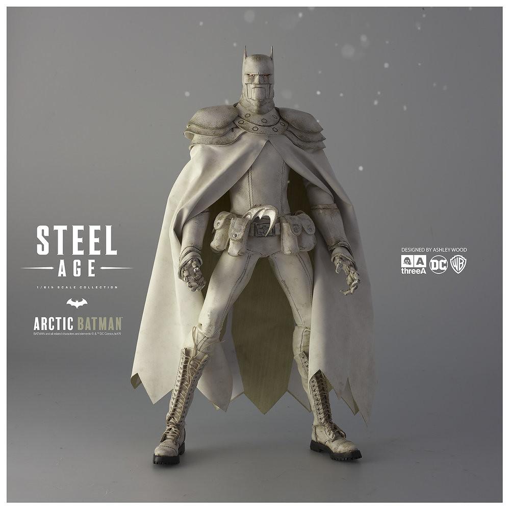 threeA DC Comics 系列【鋼鐵世代:極地蝙蝠俠】Steel Age Arctic Batman 1/6 比例人偶作品