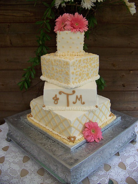 Ivory Tan Wedding cake