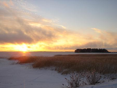 El lago de Joensuu
