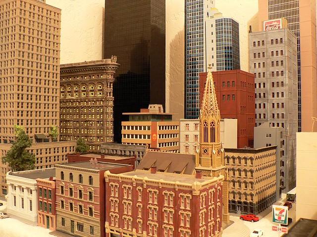 N scale buildings, quick display. 70 percent of my buildings.