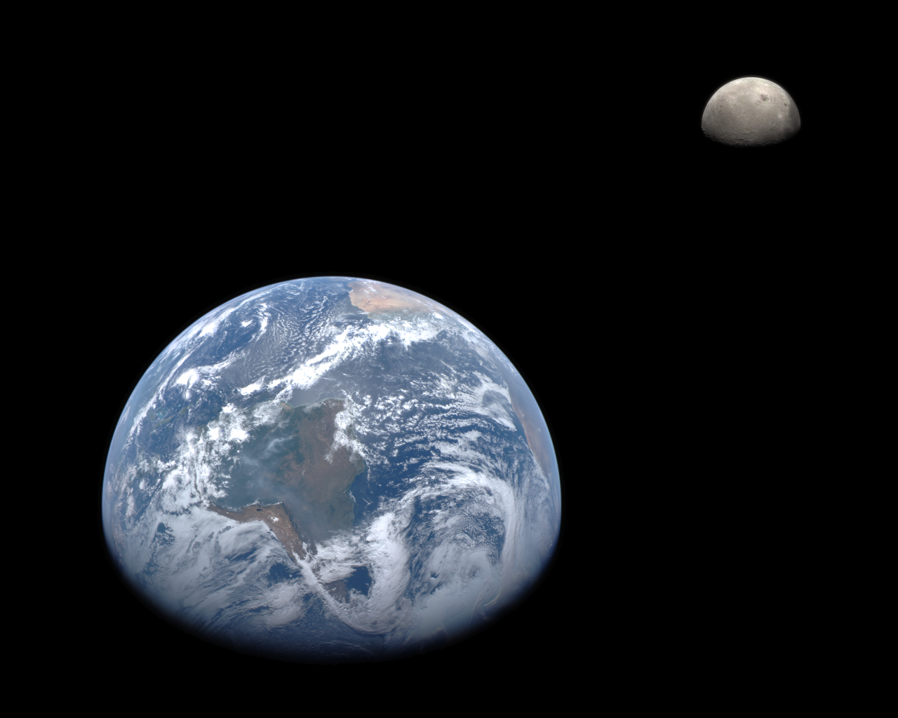 Earth and Moon from MESSENGER   Flickr - Photo Sharing!