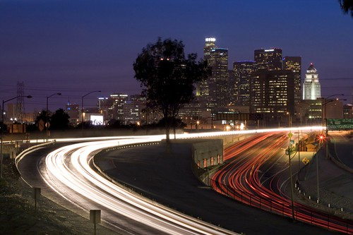 city longexposure light urban night landscape losangeles cityscape lighttrails downtownla