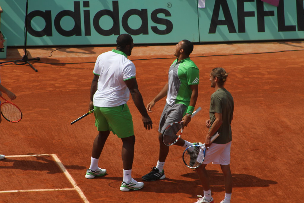Teddy Riner and Jo Wilfried Tsonga