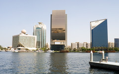 Dubai Port and buildings