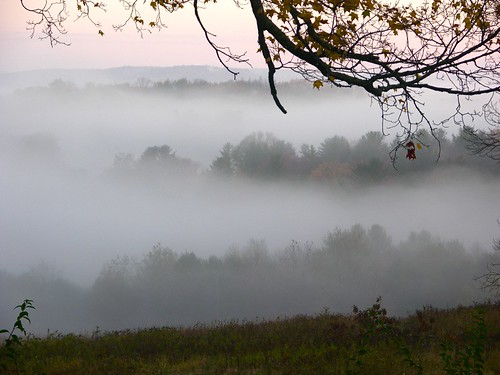 morning fog hills newyorkstate sullivancounty