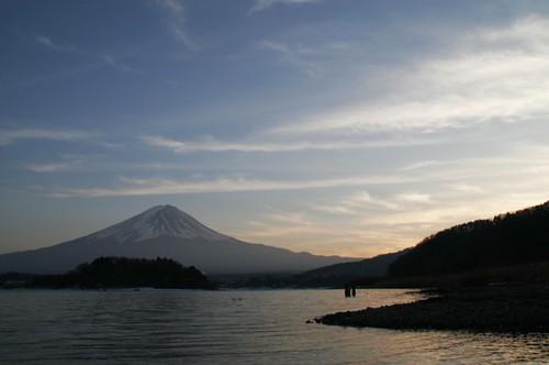 sunset sky lake mtfuji kawaguchi