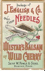 Victorian Trade Card - Wistar's Balsam