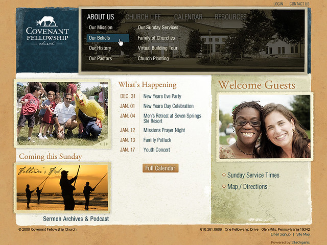 Covenant Fellowship Church - Home Page w/Sub Nav