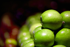 macro photography, green, produce, fruit, food, close-up, granny smith, apple,