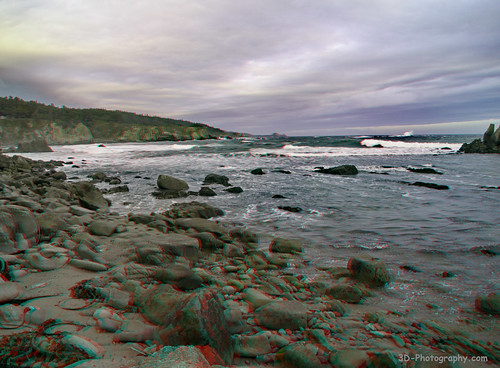 california seascape digital 3d anaglyph stereo zuiko 43 mendocinocounty fourthirds f3556 redcyan olympys 1442mm e410 chrisgrossman iverserncove