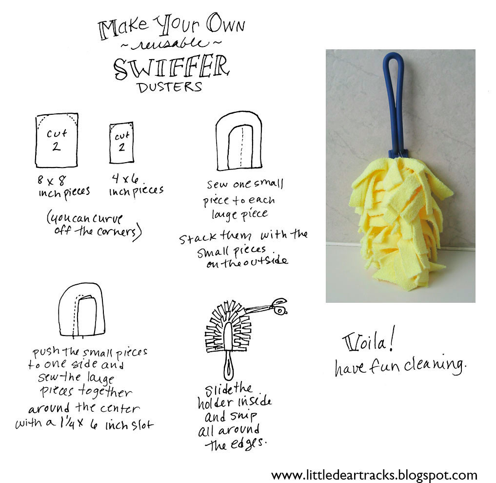 MAKE YOUR OWN swiffer duster instructions