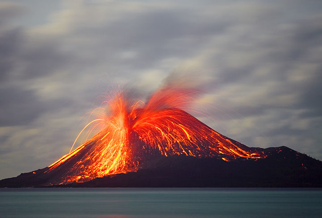 Eruption of Anak Krakatau volcano