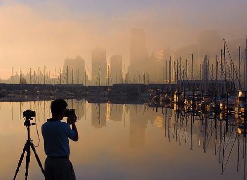 city urban mist fog skyline vancouver sunrise photo photographer aplusphoto