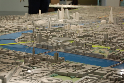 Building Centre scale model of London: Westminster, London Eye, The City