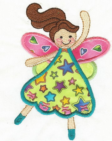 Odd fairy Applique - Applique Embroidery Designs and Patterns at