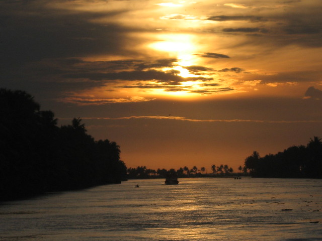 Sunset at Backwaters