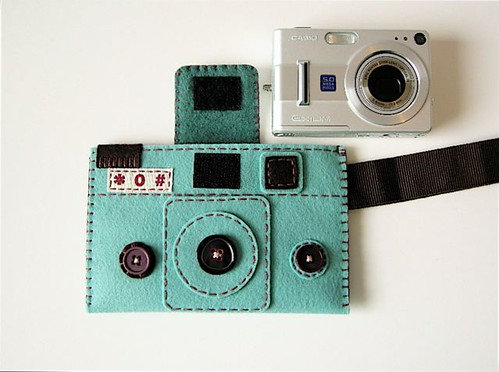 Camera camera case HOLGY spring blue