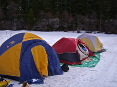 Snow Camping at Lake Easton State Park