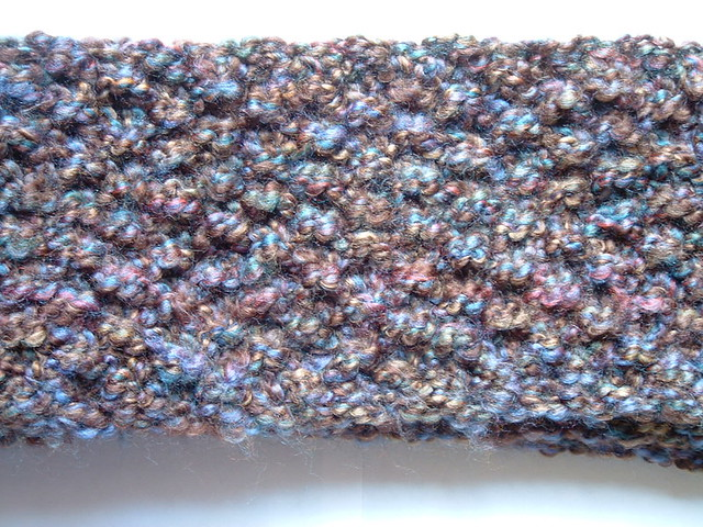 Seed Stitch Scarf Knit With Homespun Shirleyknits2003 Flickr
