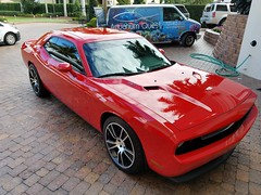 Dodge Challenger paint correction and HCC9 5year ceramic coating installation