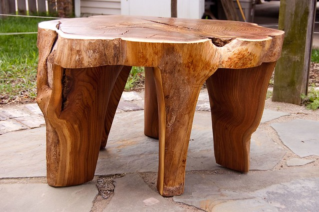 Tree trunk table flickr photo sharing - Tree trunk table and chairs ...