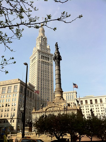 Terminal Tower and Solidiers and Sailors Monument