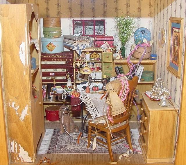 Sewing Room 1:12 Scale Dollhouse Miniature Charles Wysocki