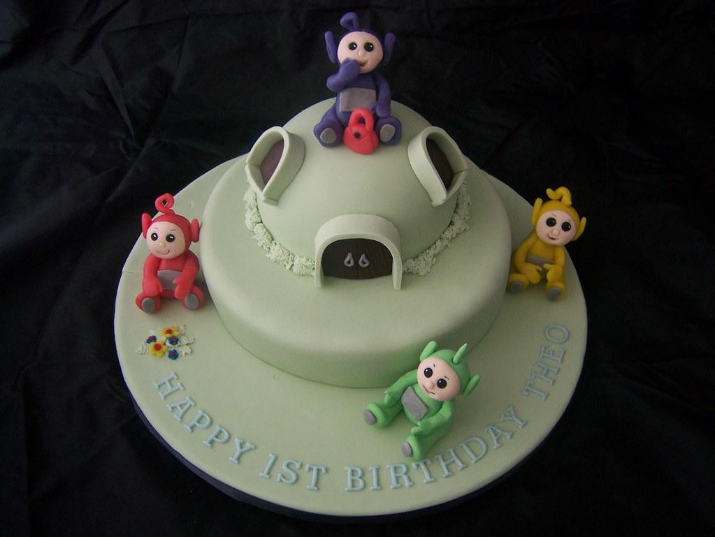 Pin Teletubbies Birthday Party Cake On Pinterest