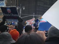 Obama rally Columbus Circle