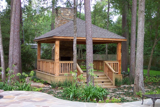 Country gazebo and fireplace flickr photo sharing - Outdoor gazebo plans with fireplace ...