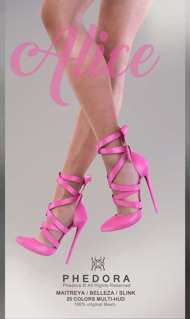 "Phedora exclusively for Enchantment: Cinderella - ""Alice"" heels! ♥ - SecondLifeHub.com"