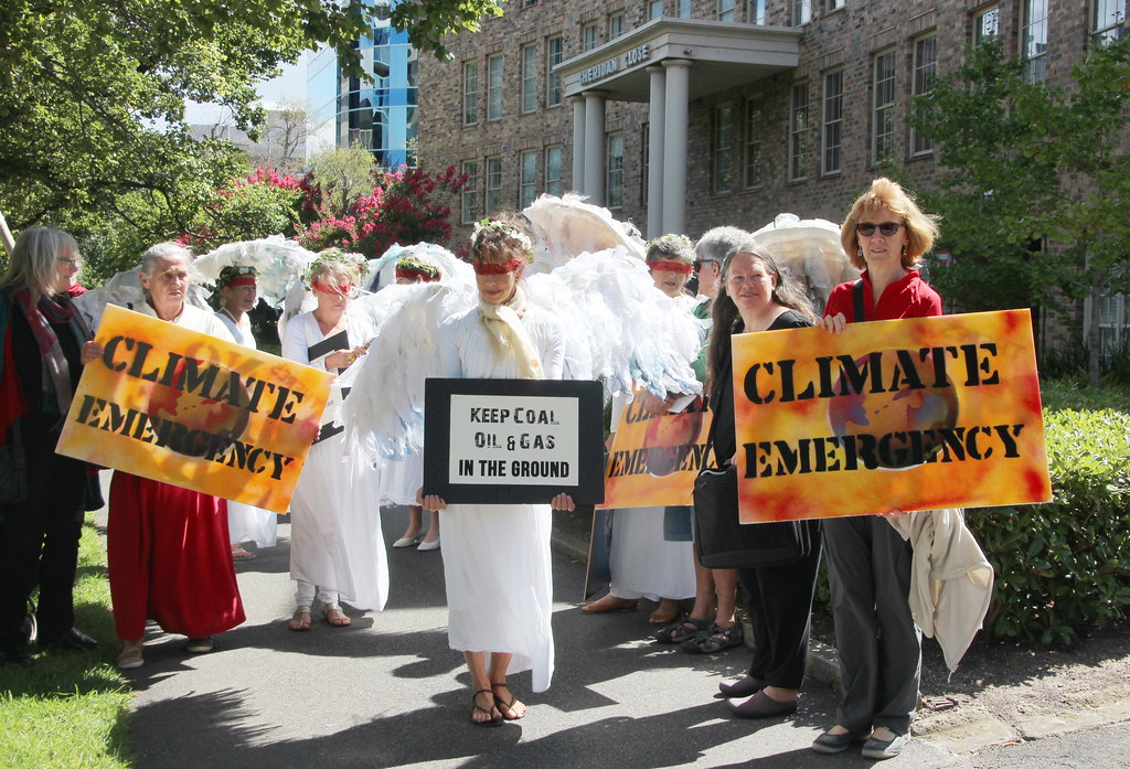 Walking - Climate Guardian Angels outside US consulate Melbourne