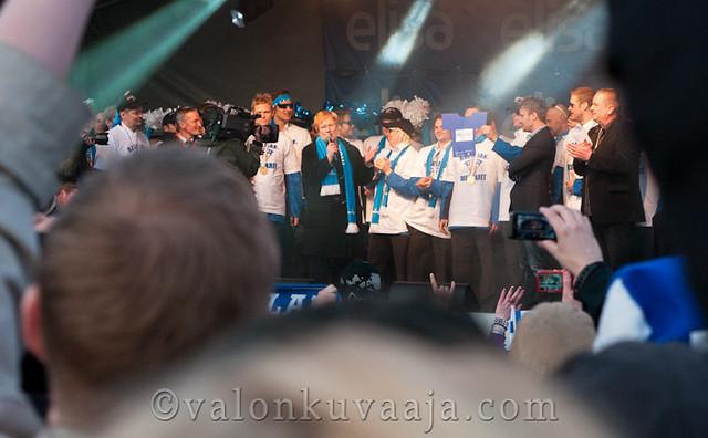 Sakari Kuosmanen ja Tarja Halonen