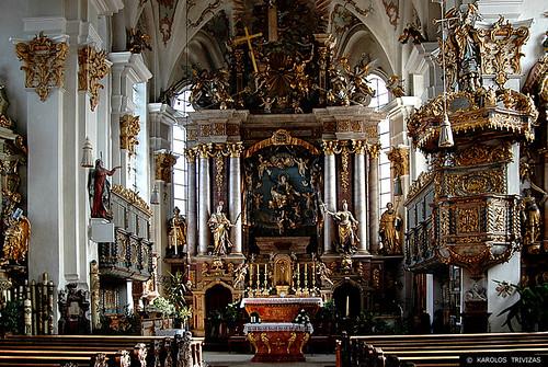PARISH CHURCH IN FEICHTEN (GERMANY, BAVARIA, UPER BAVARIA, ALTOTTING, KIRCHWEIDBACH, FEICHTEN)