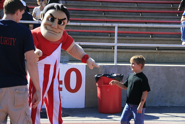 He Did It! Wabash Mascot Frames Child.