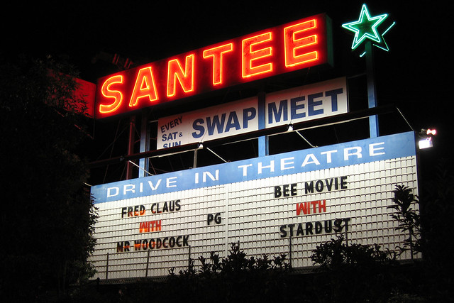 marquee for the santee drivein theatre flickr photo