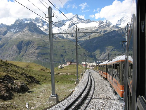 Train from Gornergrat to Zermatt