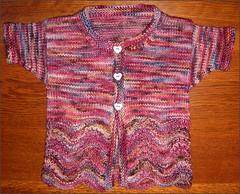 Feather & Fan Baby Sweater