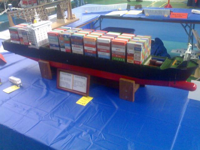 Model Cargo Ship