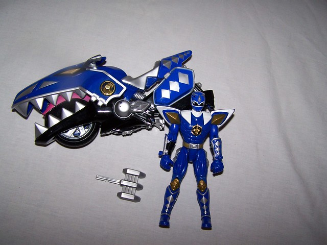 blue power ranger with motorcycle flickr photo sharing. Black Bedroom Furniture Sets. Home Design Ideas