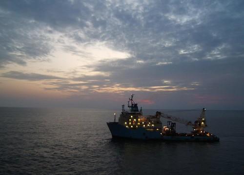 ocean night ship dusk offshore vessel atlantic nigeria maersk
