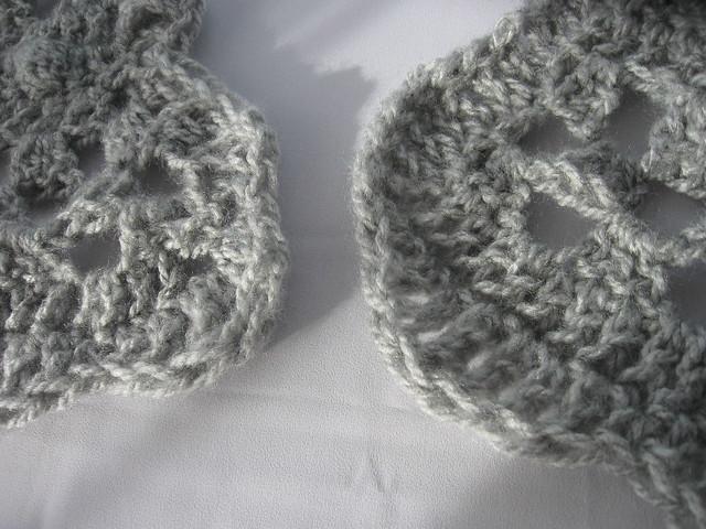 Crochet Half Moon Shawl corners Flickr - Photo Sharing!