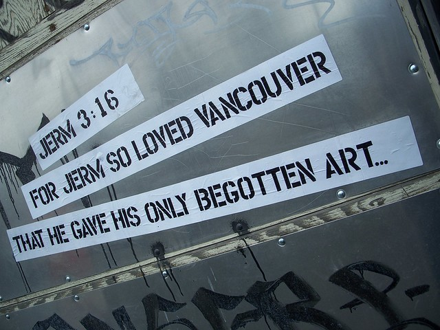 jerm 3:16 for jerm so loved vancouver that he gave his only begotten art...