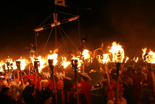 Up Helly Aa: squads and the boat