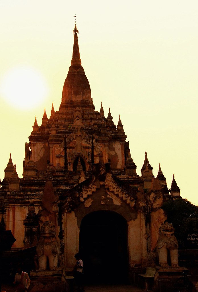 A Temple In Bagan At Sunset