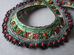 Lillium Superbum Freeform Crochet Necklace
