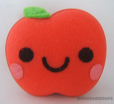 kawaii Apple Smiley face Kitchen cleaning sponge-cute ...