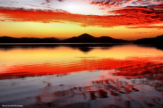 Wallis Lake Sunset from Sunset Point Pacific Palms, NSW, Australia
