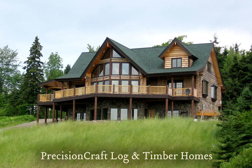 Custom Log Home Located In New Hampshire