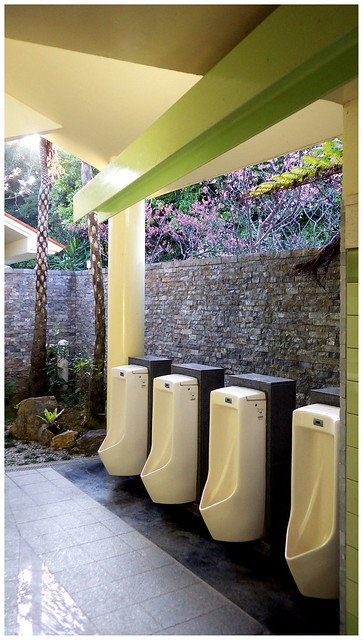 ODE TO SOME HI-TECH, UNDER-A-ROOF, OUT-DOOR URINALS in OKINAWA